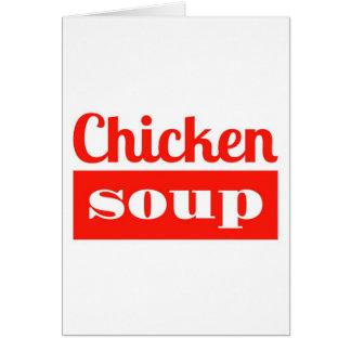 Sopa de pollo - consiga la tarjeta bien