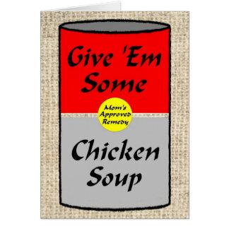 Sopa de pollo ZAZ421 Tarjeta De Felicitación