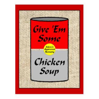 Sopa de pollo ZAZ421 Tarjetas Postales