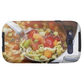 Sopa de verduras en cacerola galaxy s3 funda