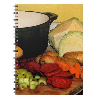 Sopa de verduras cuaderno