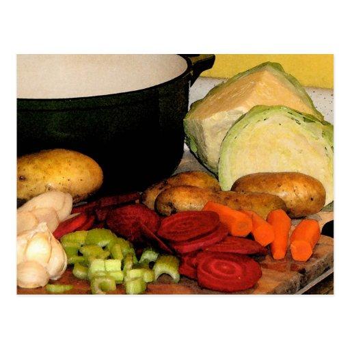 Sopa de verduras postal