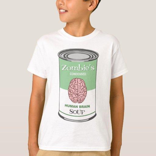Sopa del cerebro humano del zombi remera