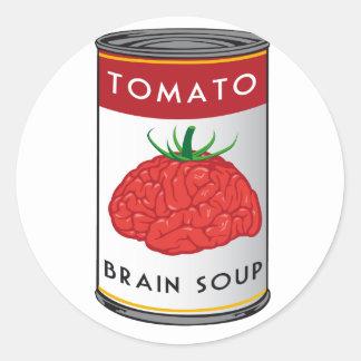 sopa del cerebro etiquetas redondas