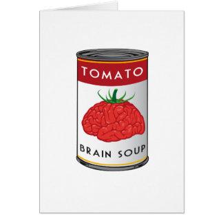 sopa del cerebro tarjeta de felicitación