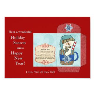 """Sopa del muñeco de nieve - tarjeta del día de invitación 5"""" x 7"""""""