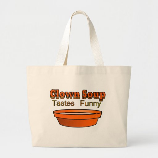 Sopa del payaso bolsa tela grande