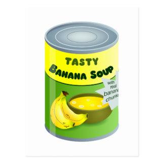 Sopa del plátano postal