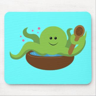 Sopa del pulpo mouse pad
