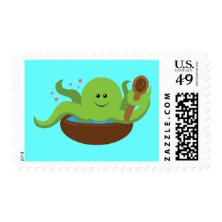 Sopa del pulpo timbres postales