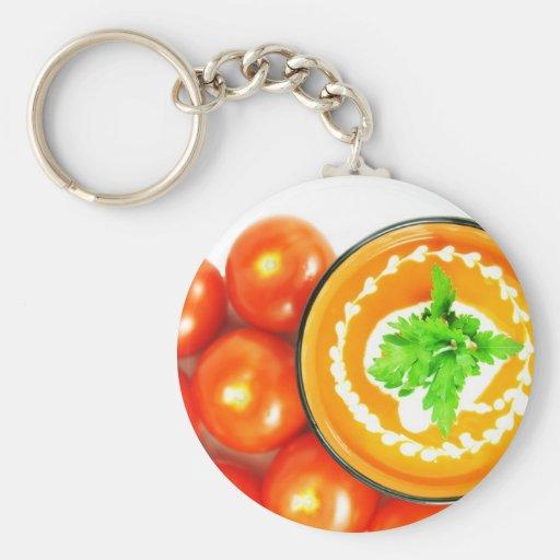 Sopa del tomate llaveros