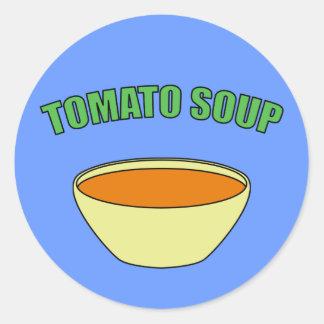 Sopa del tomate pegatina redonda