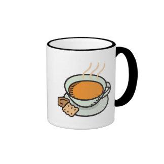 sopa del tomate taza a dos colores