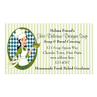 Sopa deliciosa tarjetas de visita