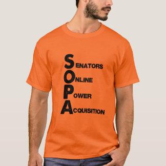 SOPA : Senators Online Power Acquisition T-Shirt