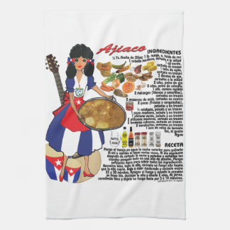 Sopa tropical cubana de la toalla de cocina -