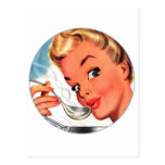 ¡Sopas retras del kitsch de las mujeres del vintag Postales