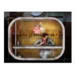 Sopas sanas y calurosas de la ventana - Hoboken, N Tarjetas Postales