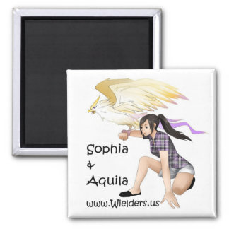 Sophia and Aquila - from the Wielders book series 2 Inch Square Magnet