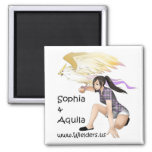 Sophia and Aquila - from the Wielders book series Refrigerator Magnets