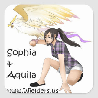 Sophia and Aquila - from the Wielders book series Square Sticker
