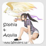 Sophia and Aquila - from the Wielders book series Stickers