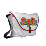 Sophia - arco iris - en blanco bolsa de mensajería