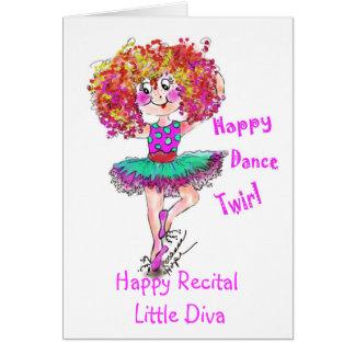 Sophia Ballerina, little girls dance recital card