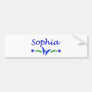 Sophia (Blue Butterfly) Bumper Sticker