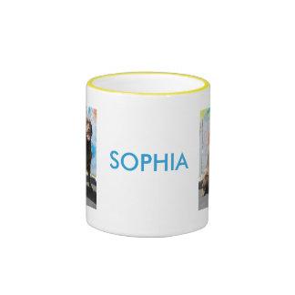 Sophia - chocolate Labrador -1 Tazas