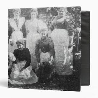 Sophia Farrell and maids, 1899 Vinyl Binders
