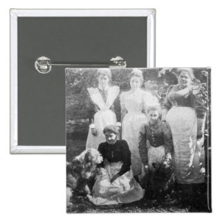Sophia Farrell and maids, 1899 Pinback Button