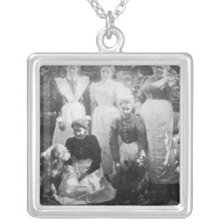 Sophia Farrell and maids, 1899 Silver Plated Necklace