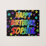 "[ Thumbnail: ""Sophia"" First Name, Fun ""Happy Birthday"" Jigsaw Puzzle ]"