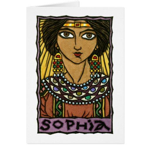 Sophia Greeting Card