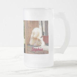 Sophia heló la taza