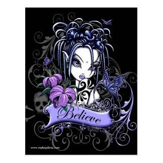 Sophia Lilly Believe Butterfly Fairy Postcard