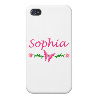 Sophia (Pink Butterfly) iPhone 4 Cover