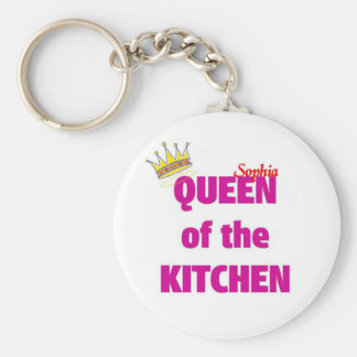 Sophia queen of the kitchen keychain