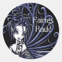 myka, jelina, sophia, sticker, fairy, hot, topic, fairies, fantasy, gothic, art, Sticker with custom graphic design