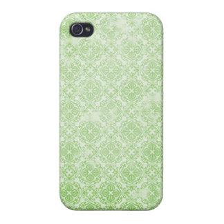 Sophia: Sage Damask Lace Print iPhone 4 Case