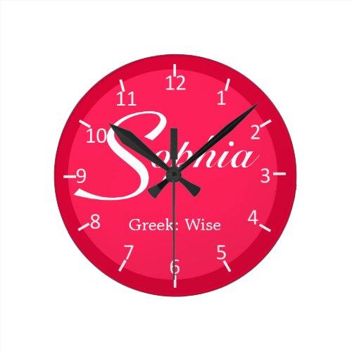Sophia Strawberry Two-Toned Round Clock
