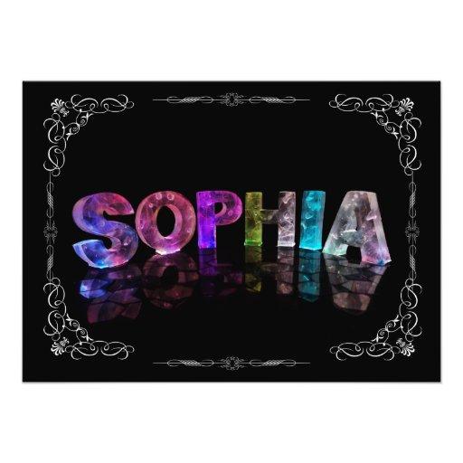 Sophia  - The Name Sophia in 3D Lights (Photograph