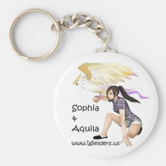 Sophia y Aquila - de la serie del libro de Wielder Llavero Personalizado
