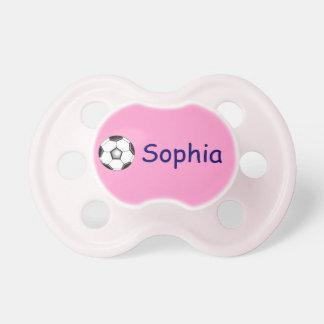 Sophia's pacifier / soccer ball BooginHead pacifier