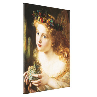 """Sophie Anderson's """"Take the Fair Face of Woman"""" Stretched Canvas Prints"""