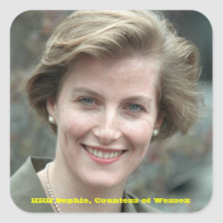 Sophie, Countess of Wessex 1995 Square Sticker