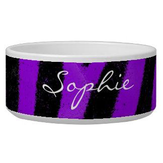 Sophie Custom Zebra Dog bowl