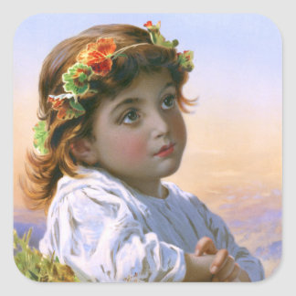 Sophie Gengembre Anderson: Dreaming Daisy Square Sticker