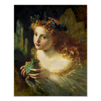 Sophie Gengembre Anderson Fairy Poster